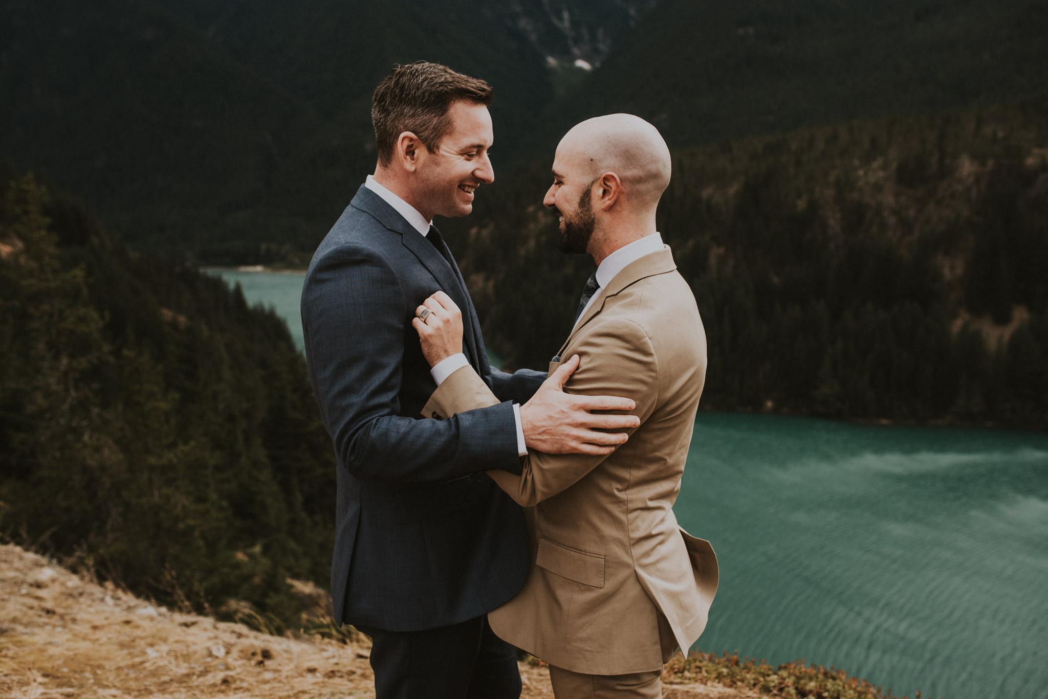 Diablo Lake Same Sex Elopement