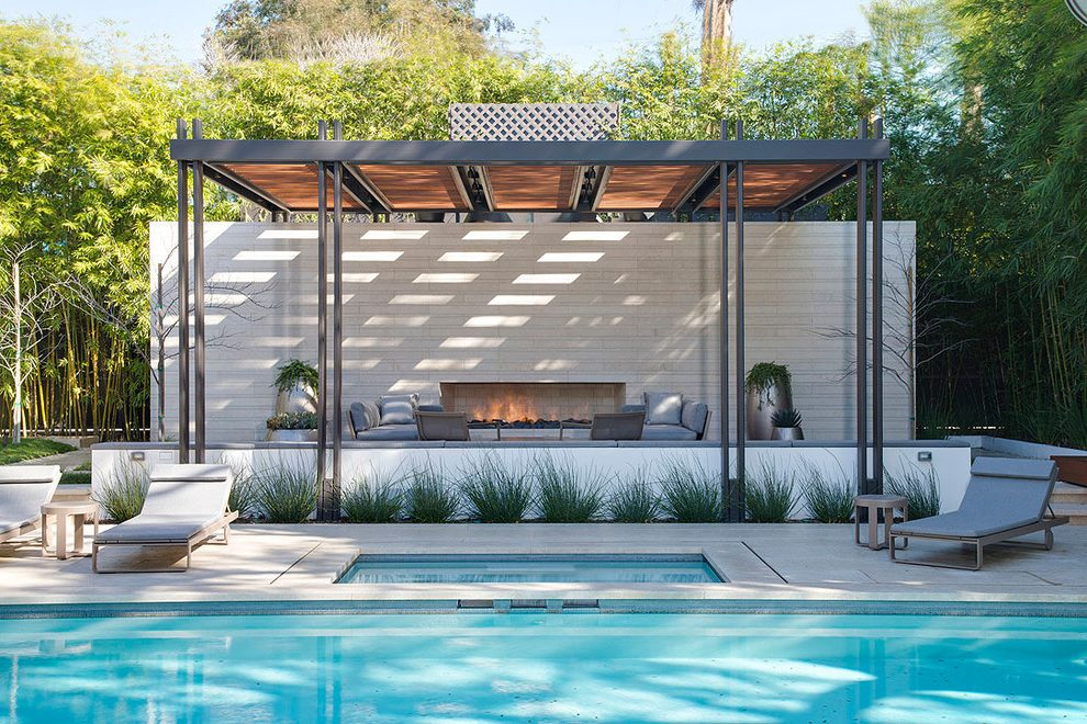 Texas Nativescapes Modern Steel Perogla, Terrace and Fire Feature .jpg