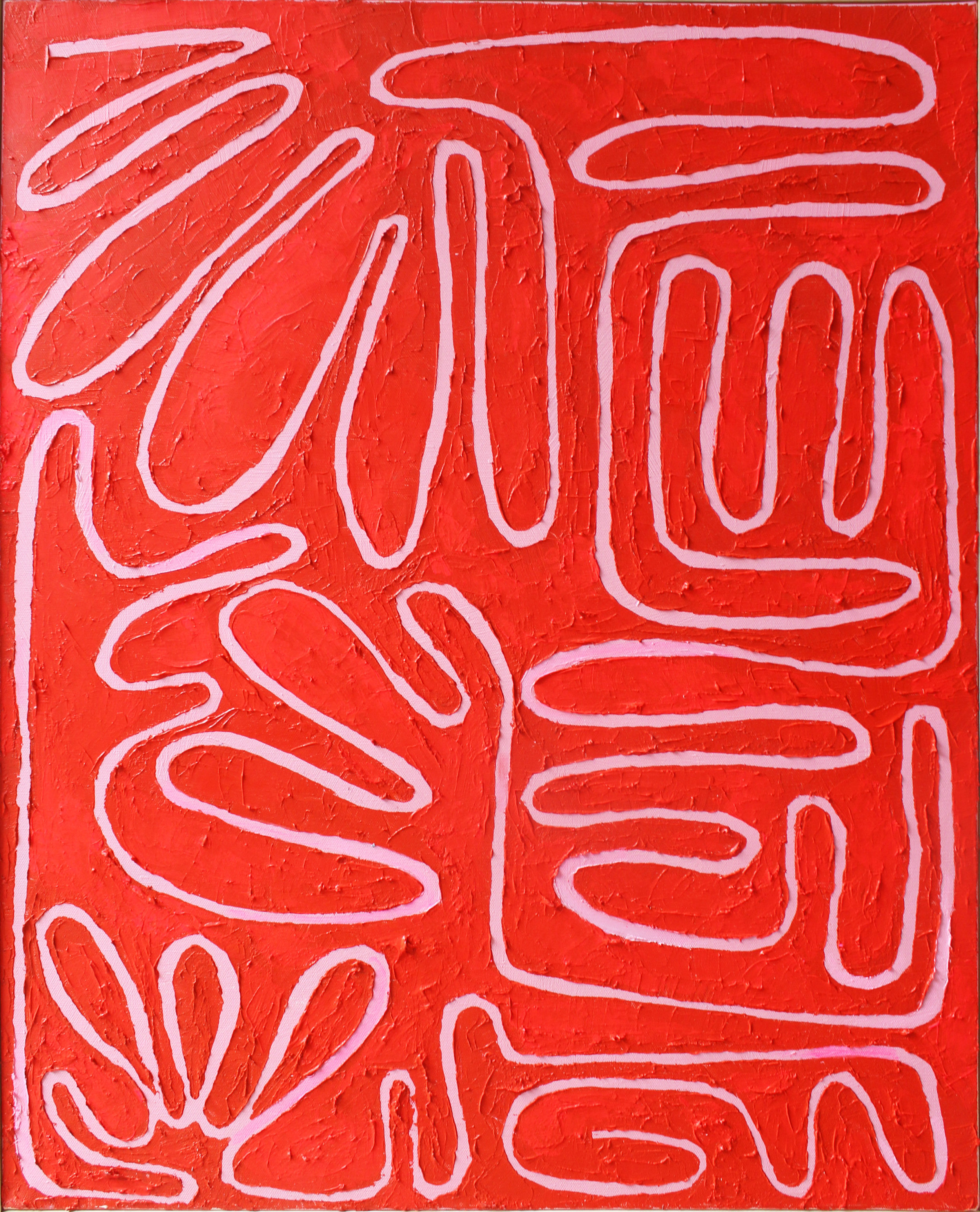 """SOLD  24.5"""" x 30.5"""" Acrylic on canvas. Framed in thin pine."""