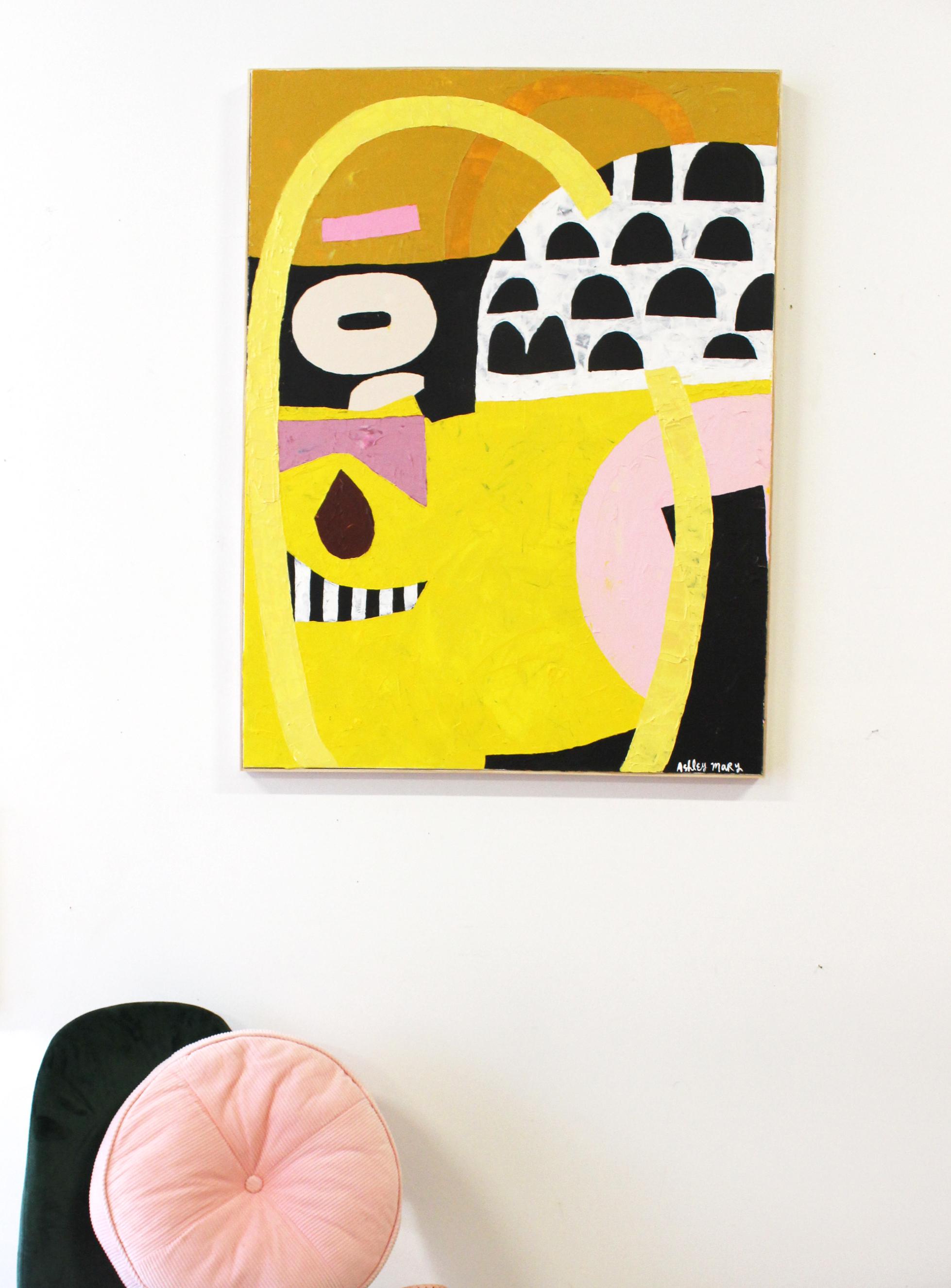 """30"""" X 40"""" Acrylic on canvas. Framed  Custom piece. SOLD"""