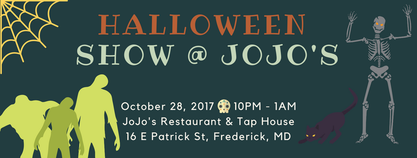 Get your costumes ready and come spend your Halloweekend with us at JoJo's!  Saturday the 28th from 10-1am we'll be playing at the annual Halloween party for JoJo's with the tap house featuring Rogue Brewing's Dead Guy Ale, and we'd love to have you all there.  Winners for the costume contest will be announced at midnight! A $50 gift card will go to the best male and female costumes, and $100 gift card to the best group/couples costume.  As always there's no cover, but get here early because the house will definitely be packed for this one. Happy Halloween!!