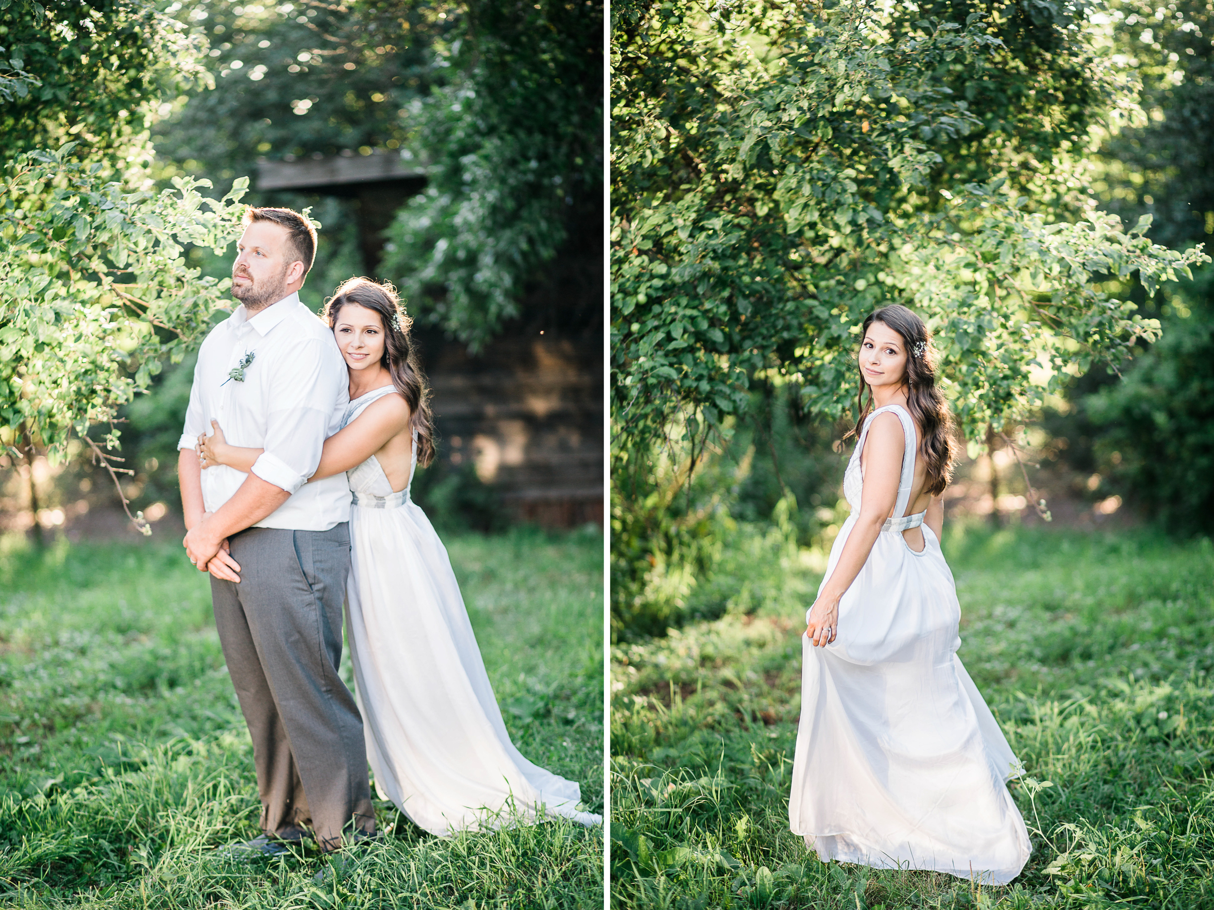 Before we left for the evening, Rachel and Jim agreed to come outside for a few last portraits as the sun was setting and we were SO GLAD they did! It was GORGEOUS LIGHTING.
