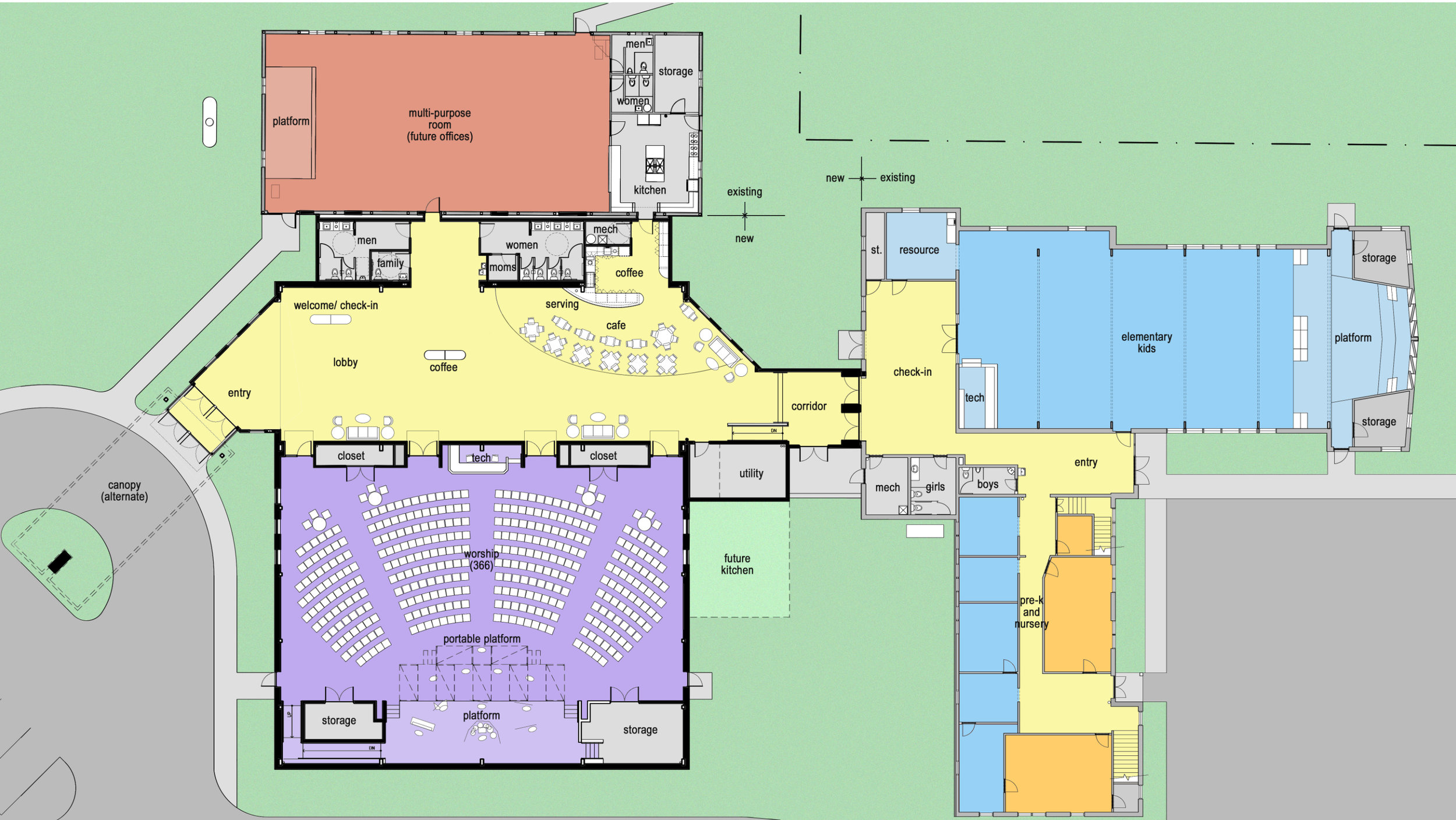 Phase 1 Conceptual floor plan layout