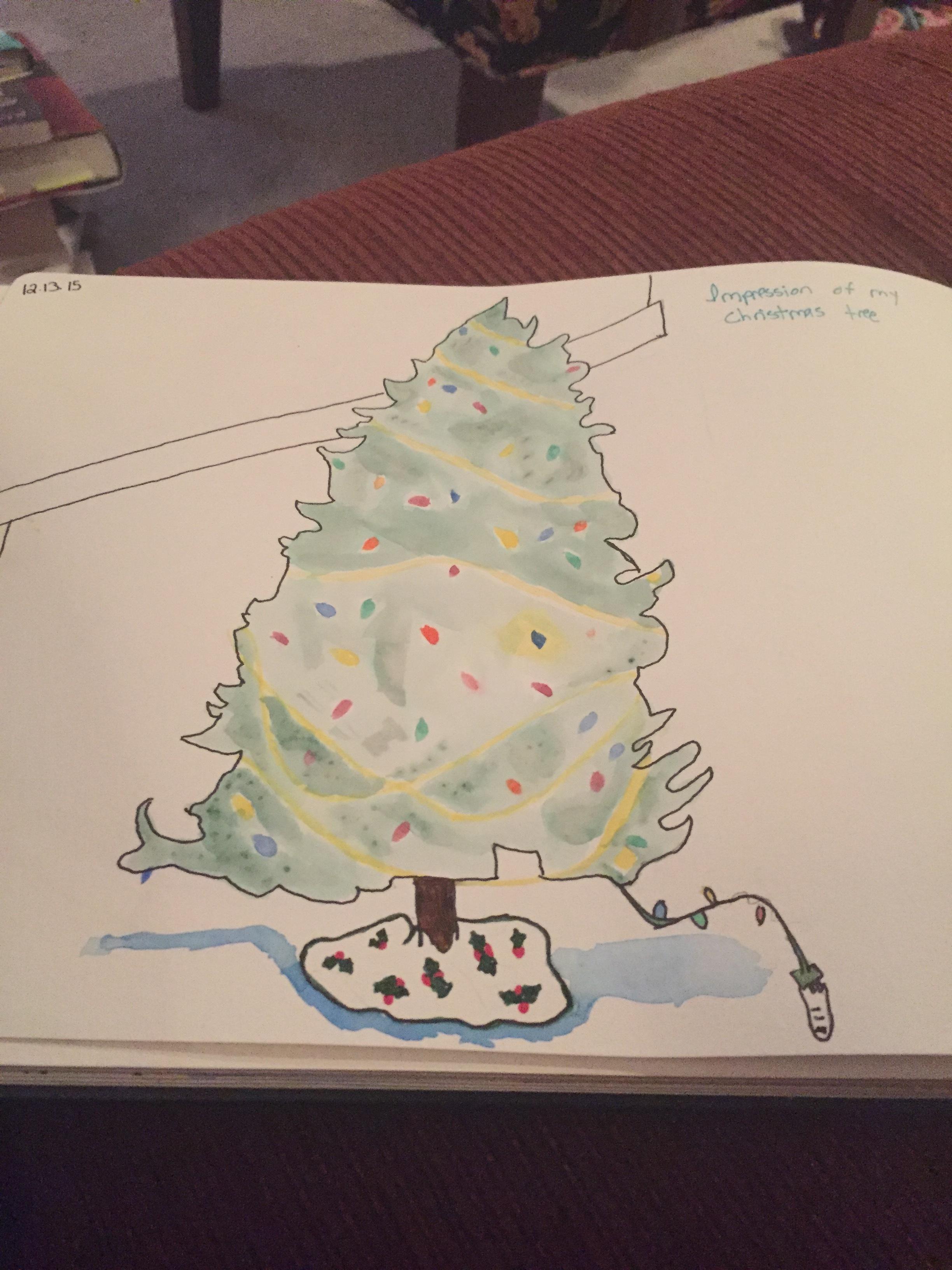 impressions of my Christmas tree.