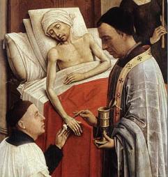 """""""Extreme Unction,"""" Rogier van der Weyden"""