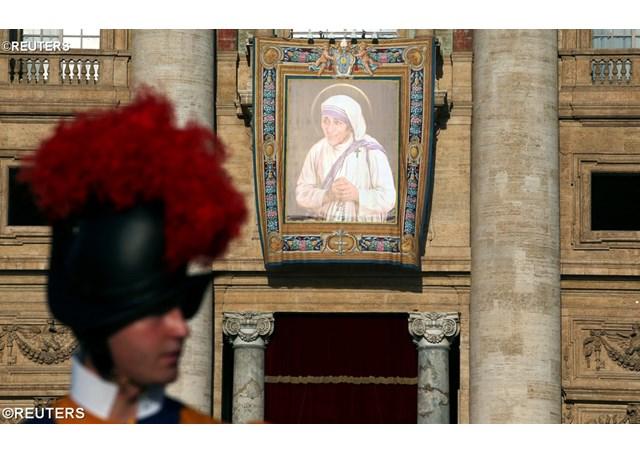 Mother Teresa's tapestry.