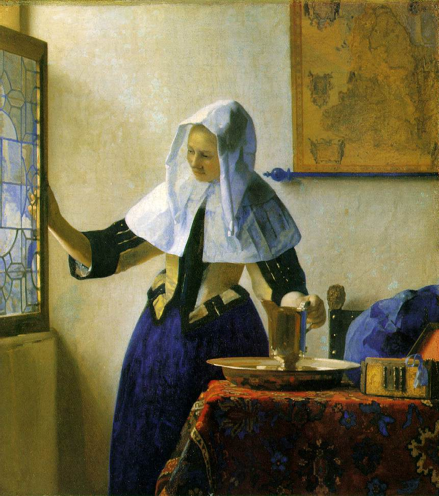 Woman With a Water Pitcher, Vermeer
