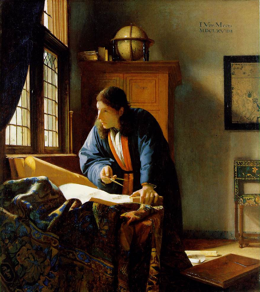 The Geographer, Vermeer