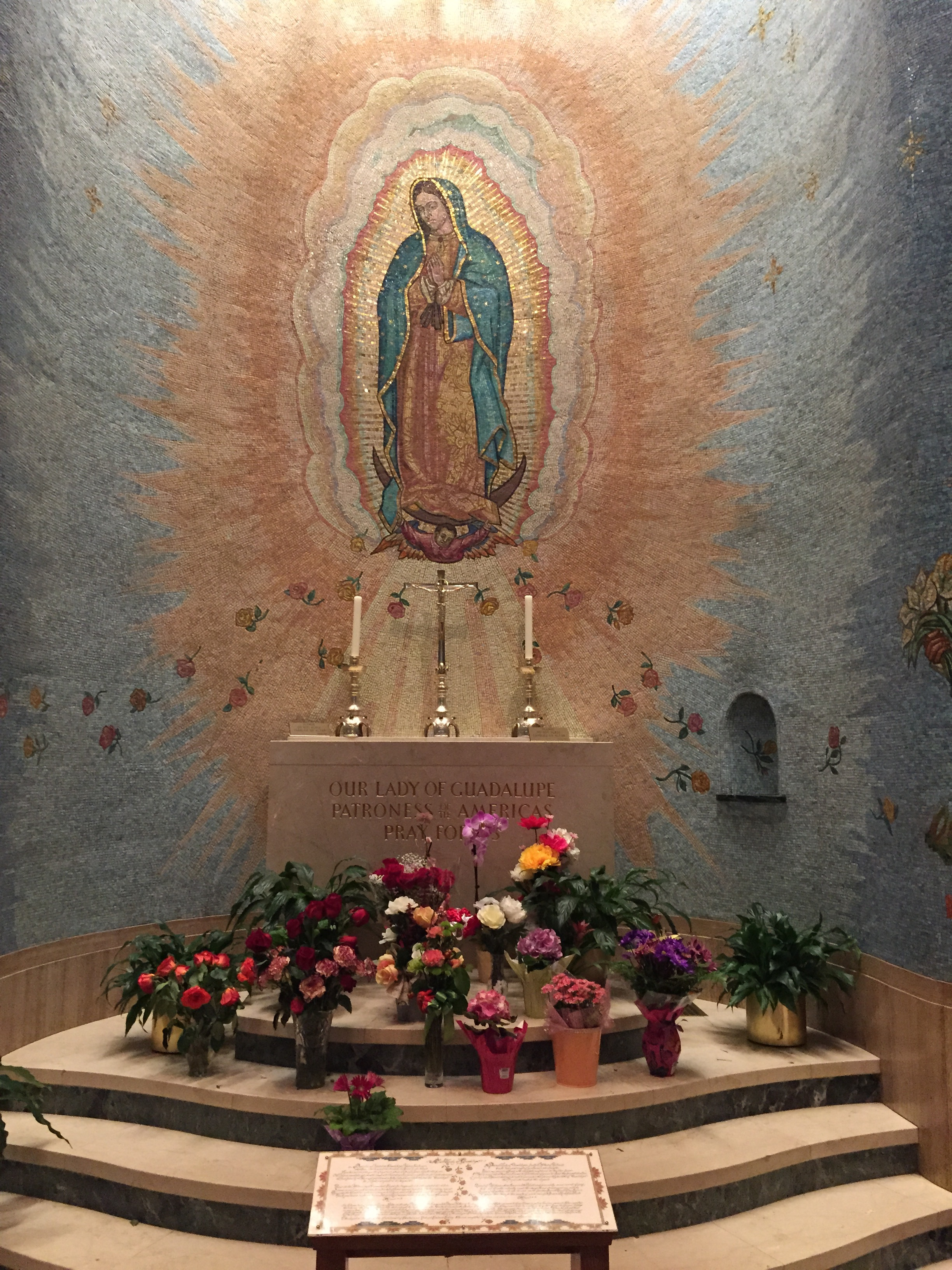 The Our Lady of Guadalupe mural at the National Basilica