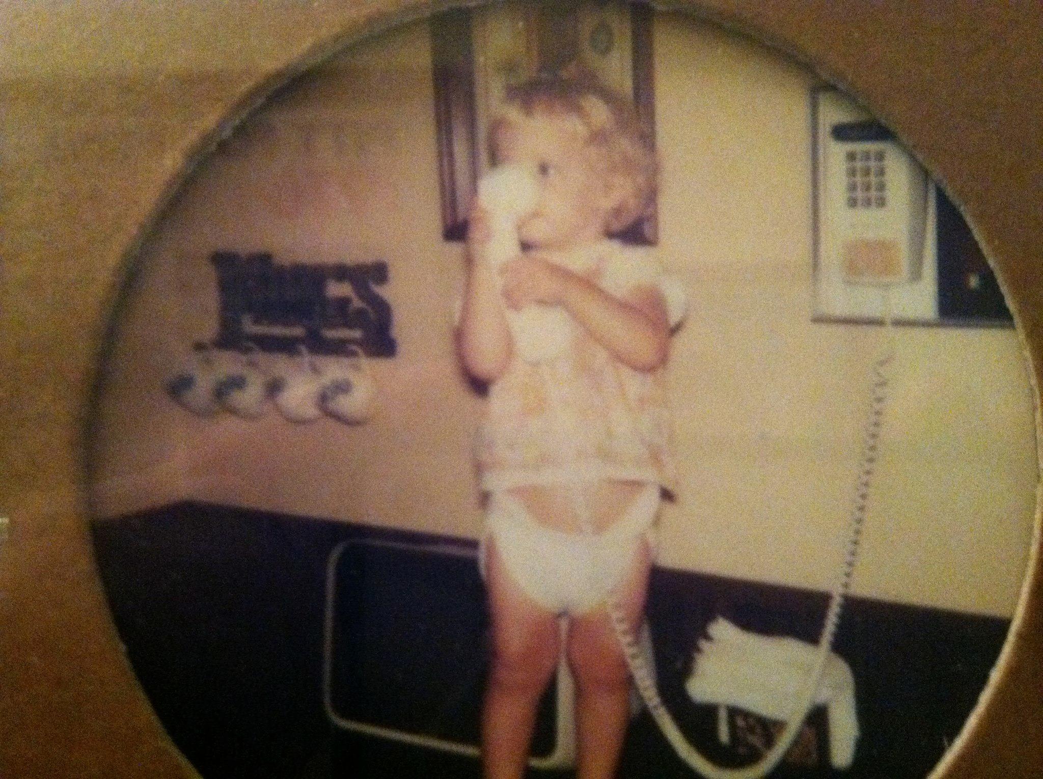 Me as an intrepid toddler.