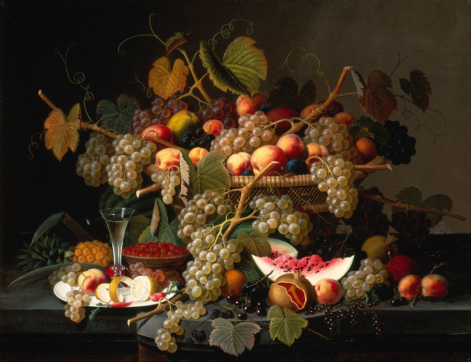 """Roesen, """"Still Life with Fruit"""""""