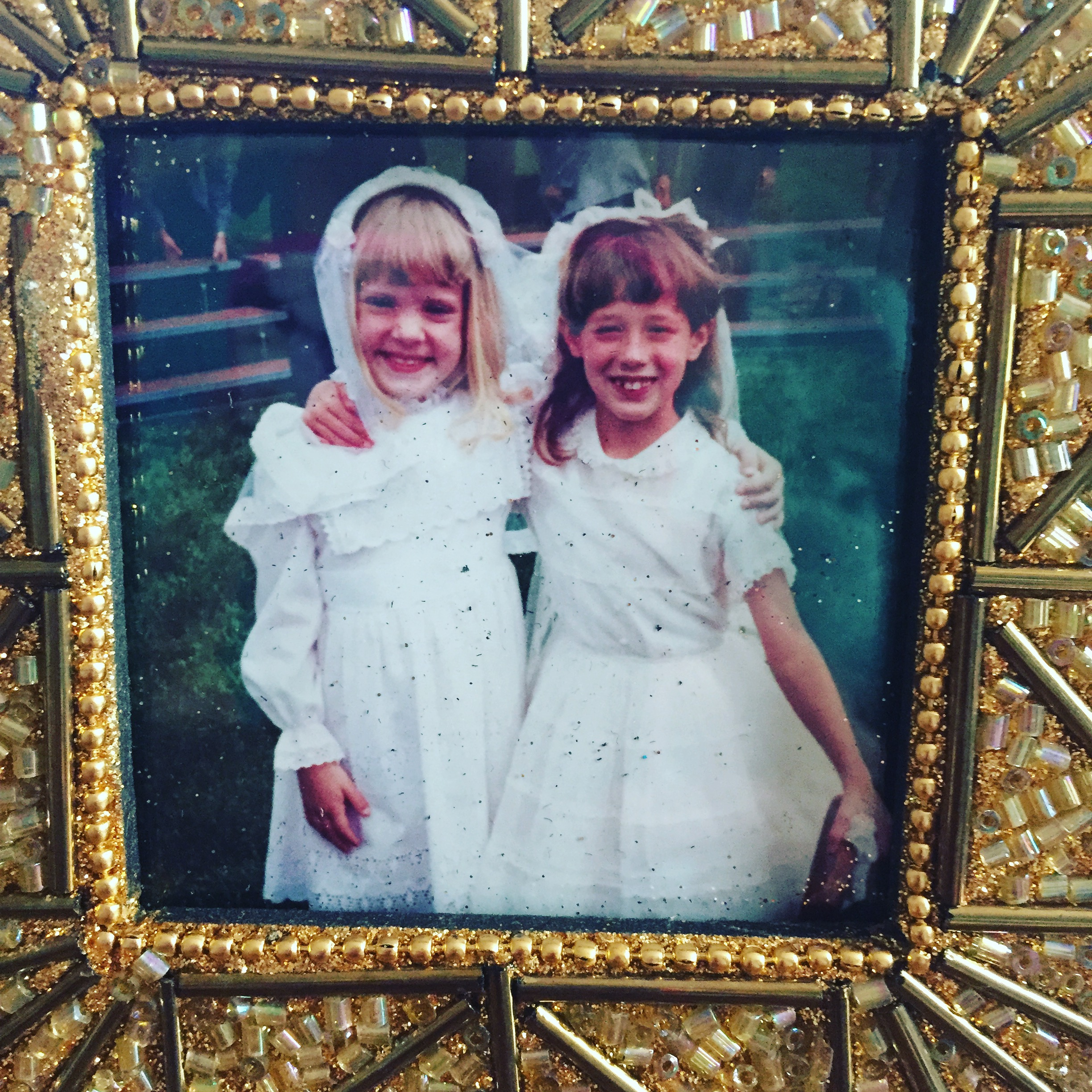 Me with my best friend, Anne (on the right), after our First Communion Mass in April 1990. I had just turned eight years old. I wouldn't be diagnosed with CF until three years later.