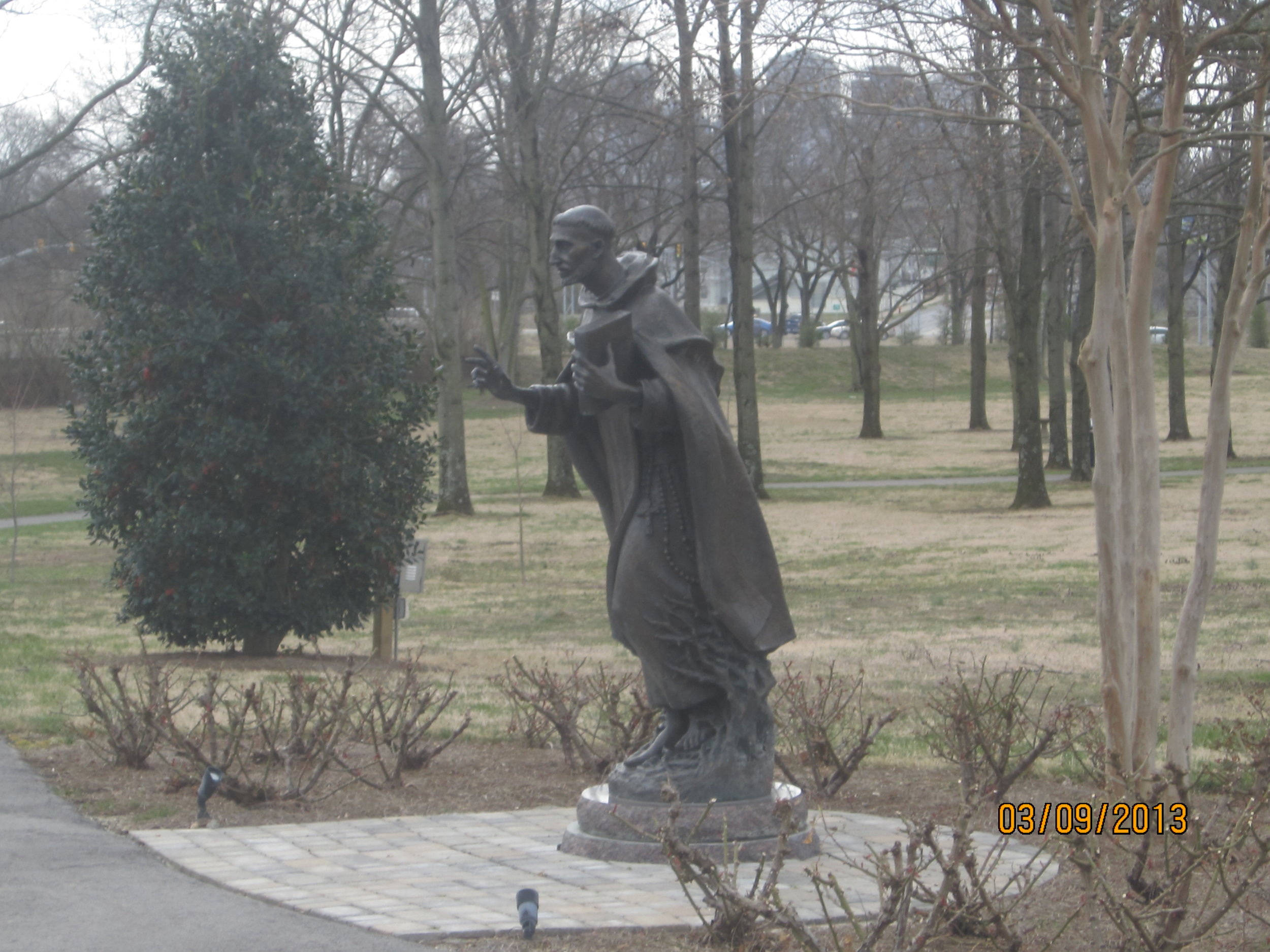 Statue of St. Dominic on the motherhouse campus of the Dominican Sister of St. Cecilia, Nashville, TN.