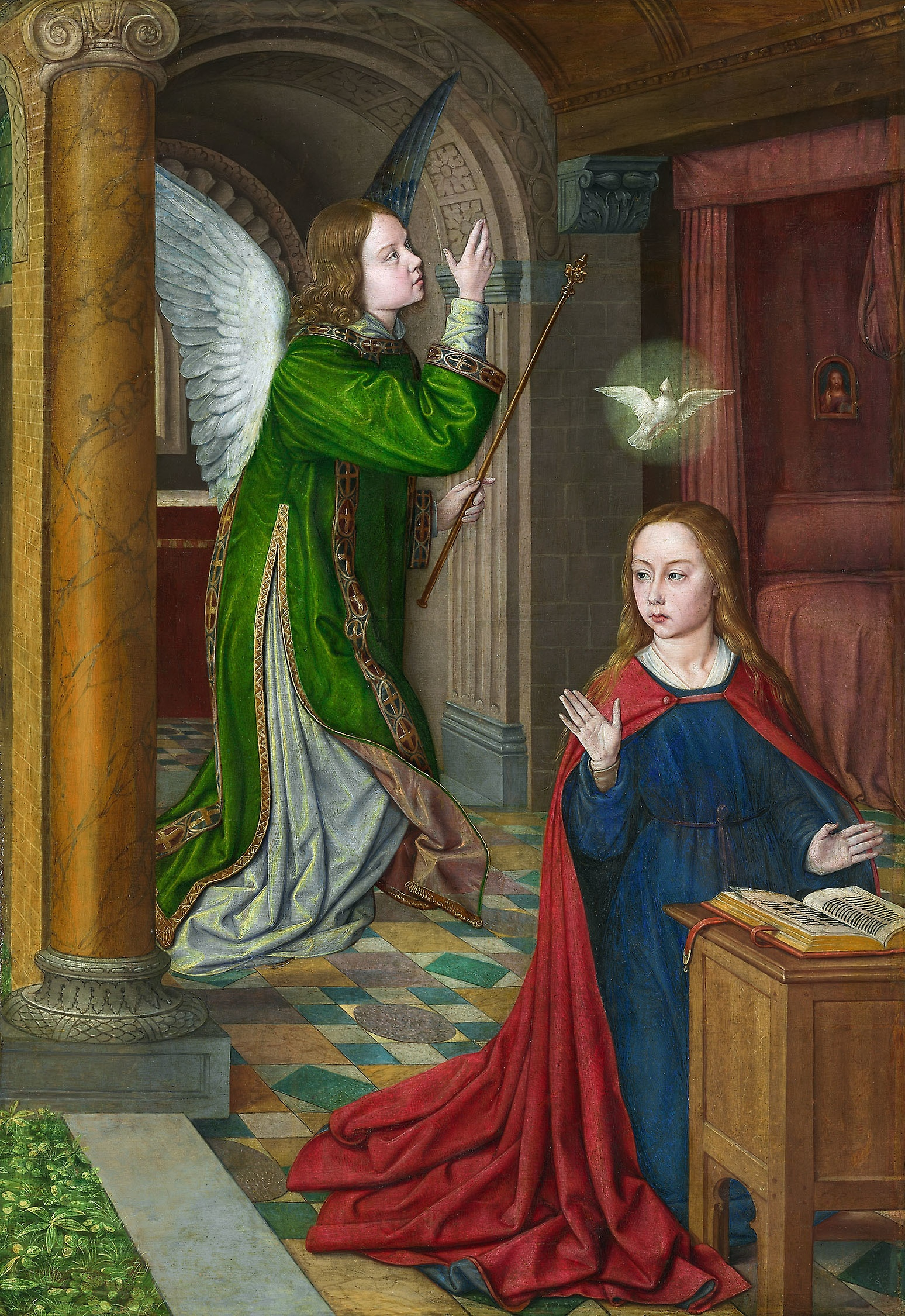 Jean Hay ,  The Annunciation ,  1490/95., oil on panel.