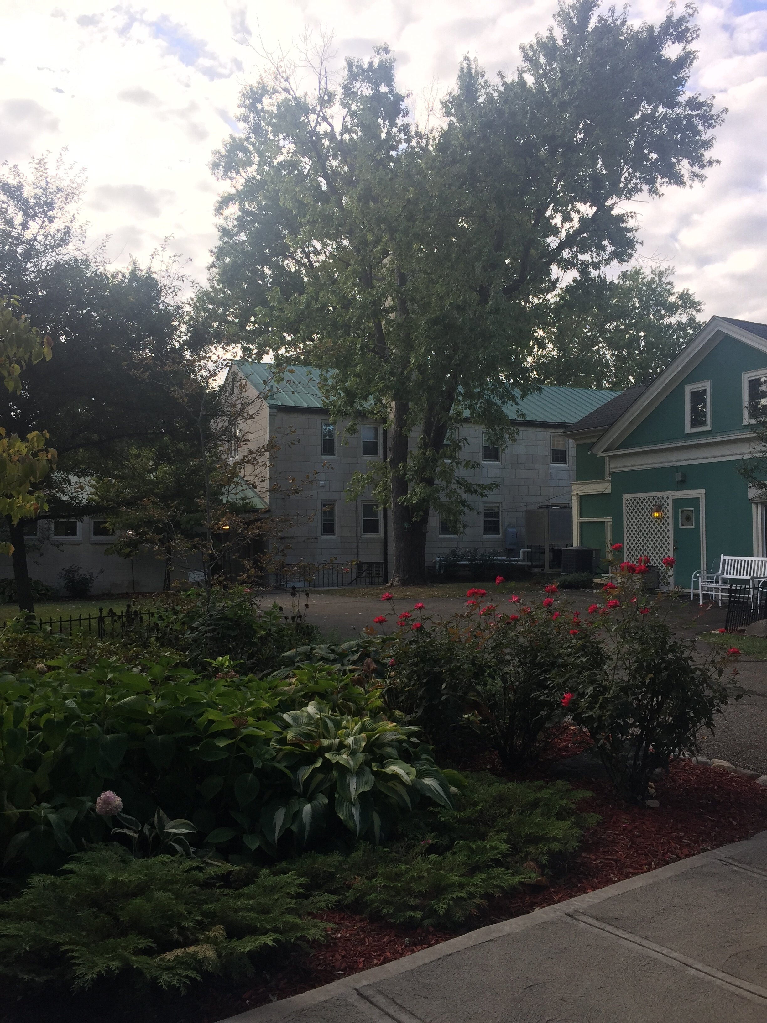 "A look at the ""old"" residential part of the retreat house."