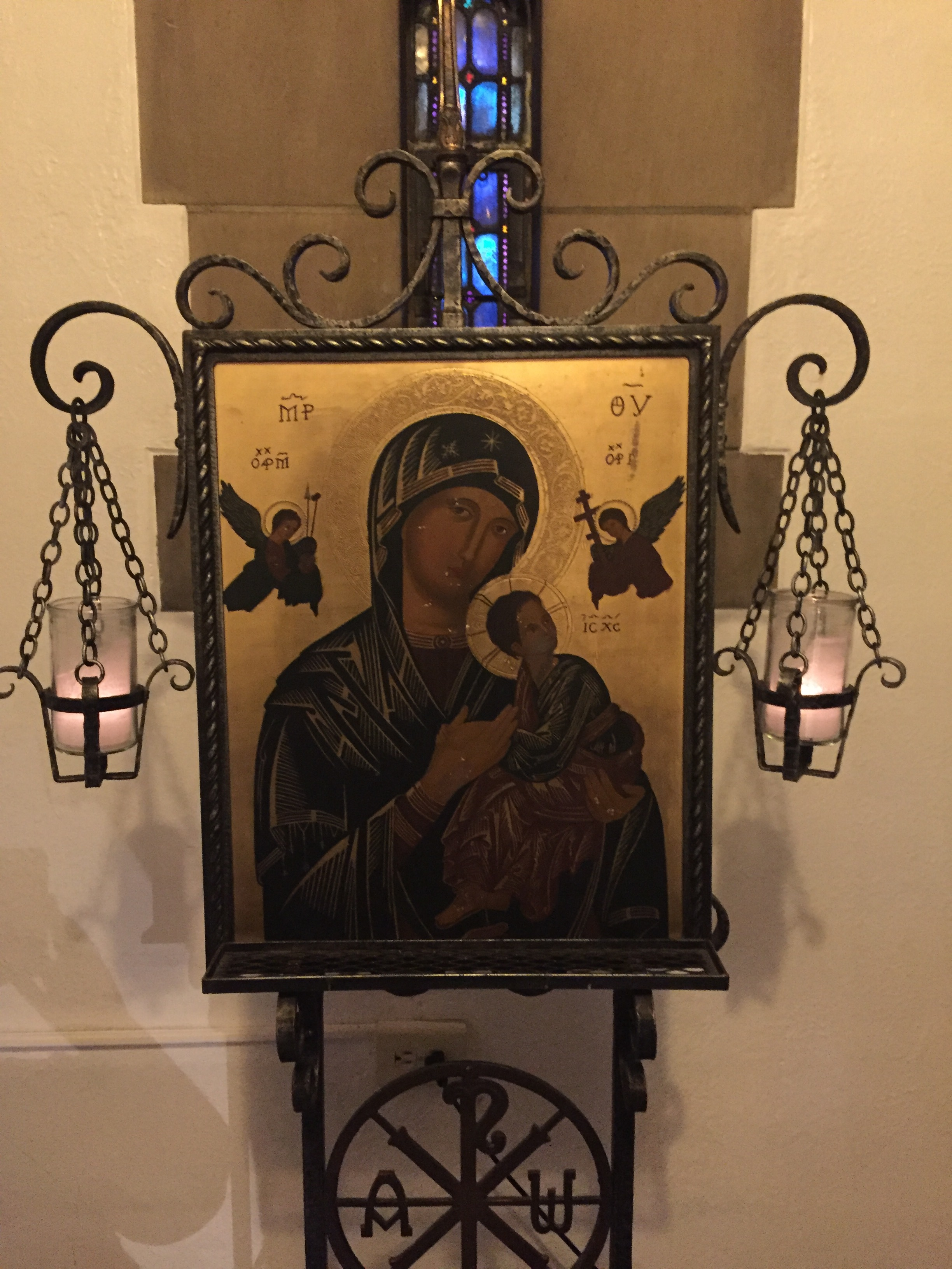 Our Lady of Perpetual Help in the chapel.