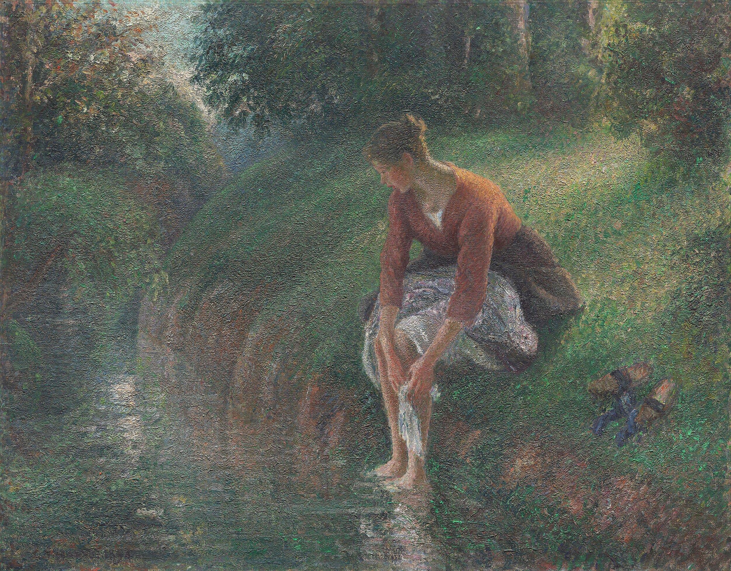 Woman Bathing Her Feet in a Brook.jpeg