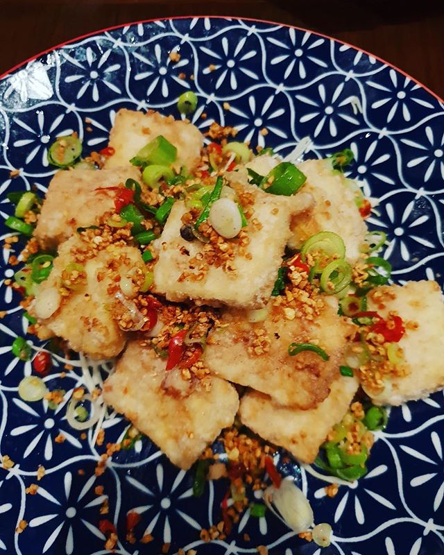 Come in and try our famous vegetarian dish, Salt and Pepper Tofu!