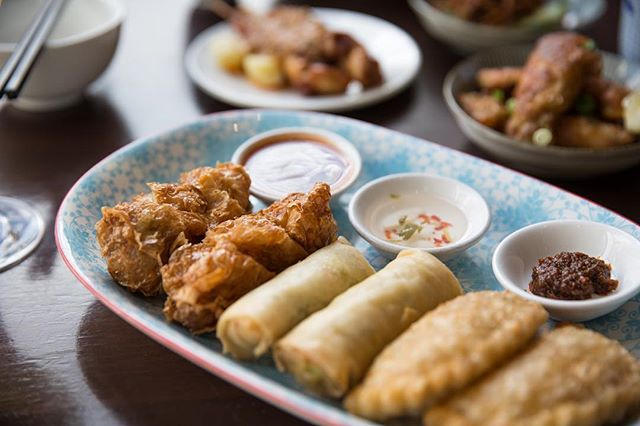 Swing by this weekend and enjoy some Malaysian light bites! (From left to right - lohbak, spring rolls and curry puffs)
