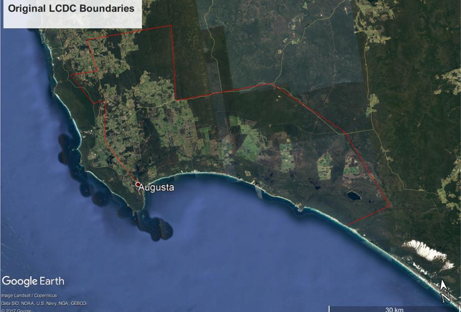 Original District Boundaries.