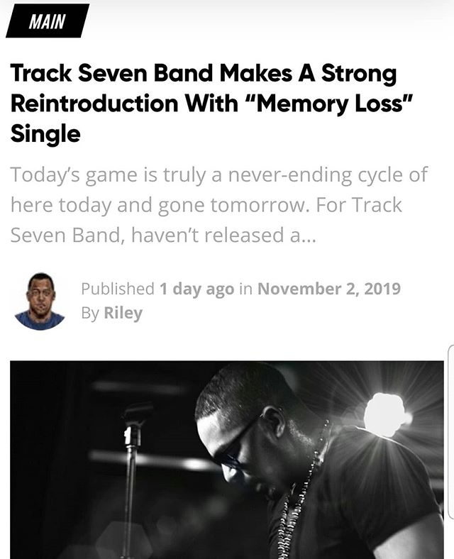 "Happy Monday....Shouting out all the music blogs that showed us love with our single ""Memory Loss"". We appreciate the fact that each of you thought our work was good enough to share with your followers.  Thank you for the love ❤ 🙏🏾 . . . #musicreview #blogpost #newmusicreview #tracksevenband #hiphop #memoryloss #nyc #newrelease #support #love #support #thankyou"