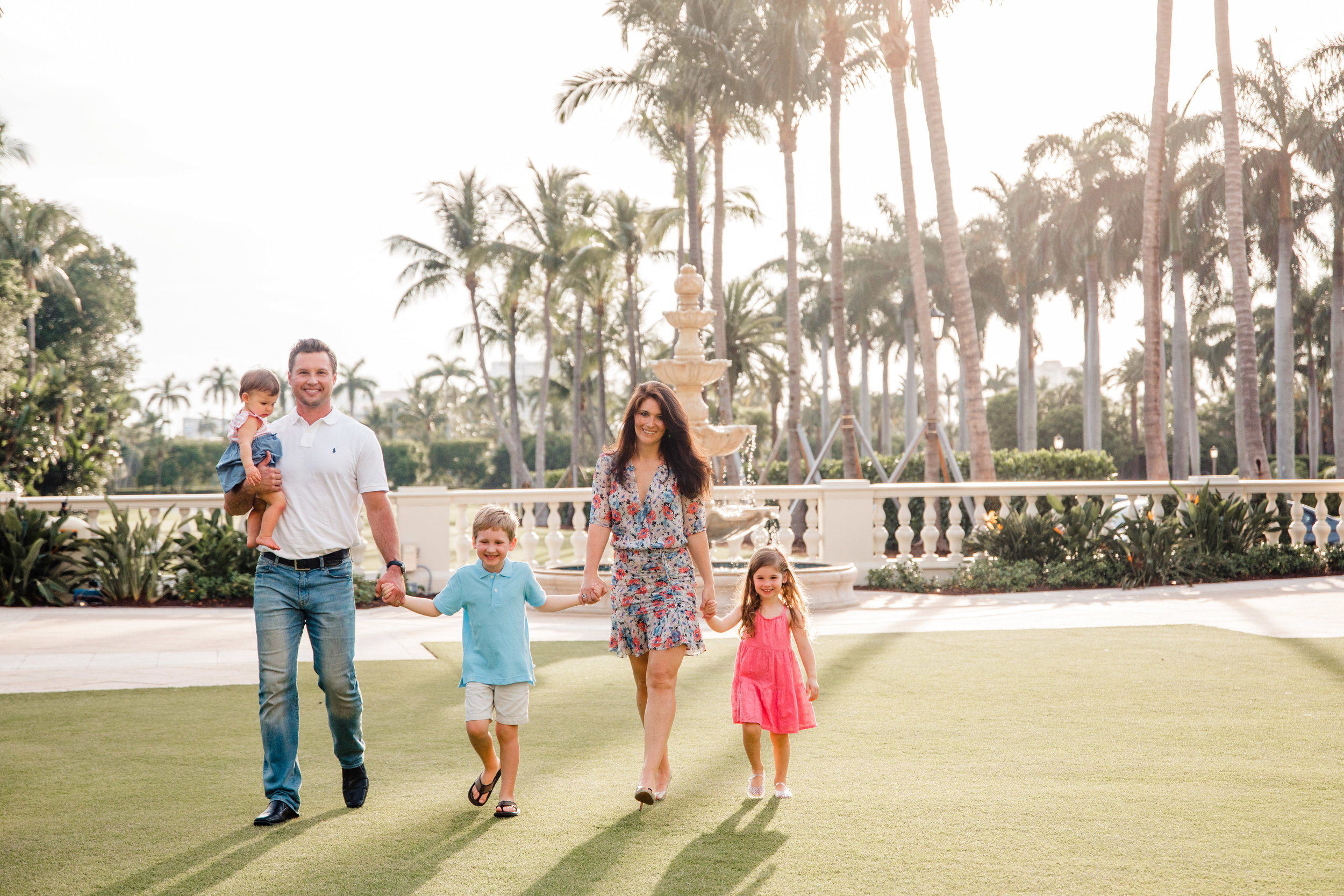Family photography session at The Breakers Palm Beach