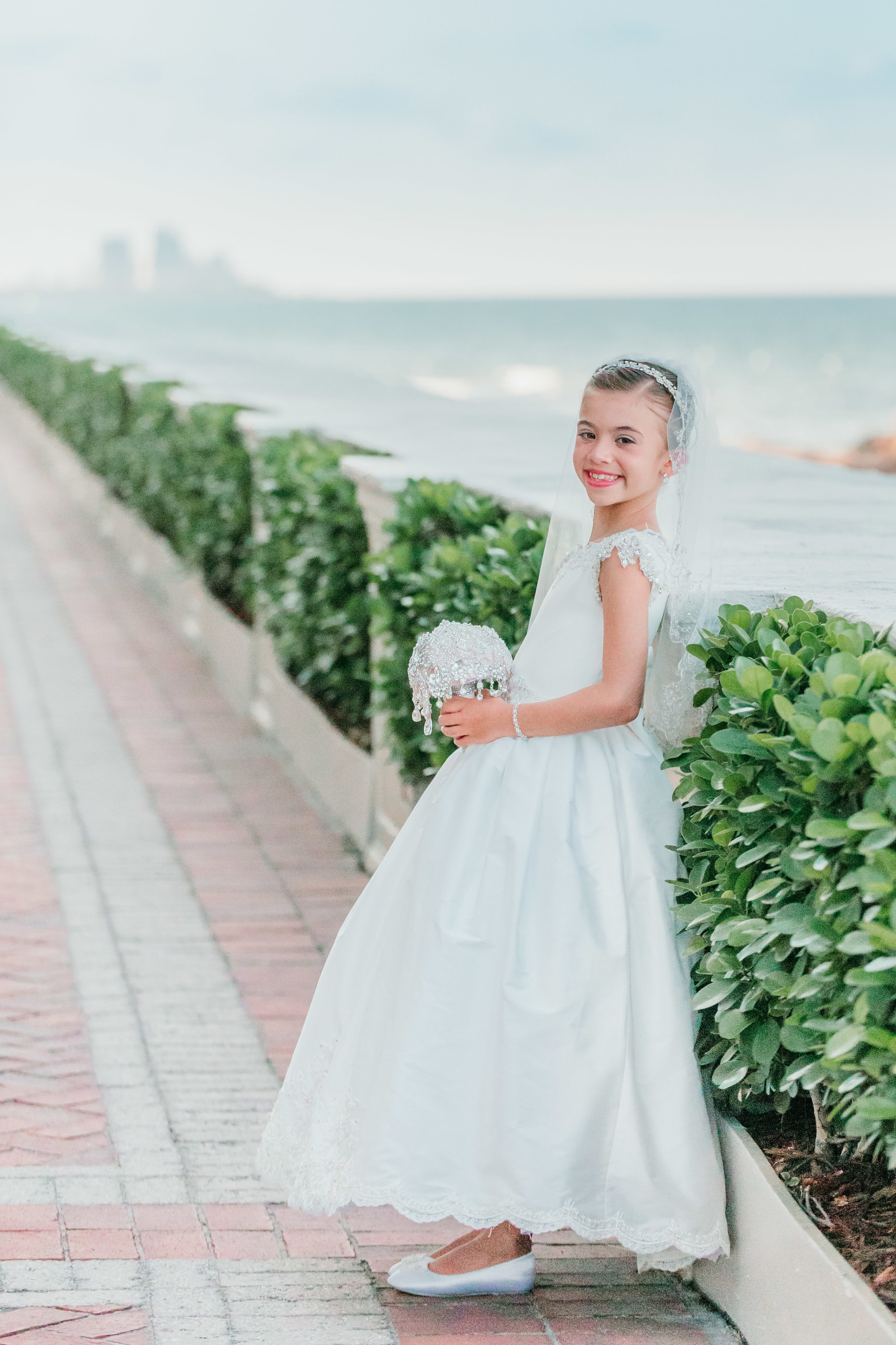 First Communion Session at The Breakers Palm Beach