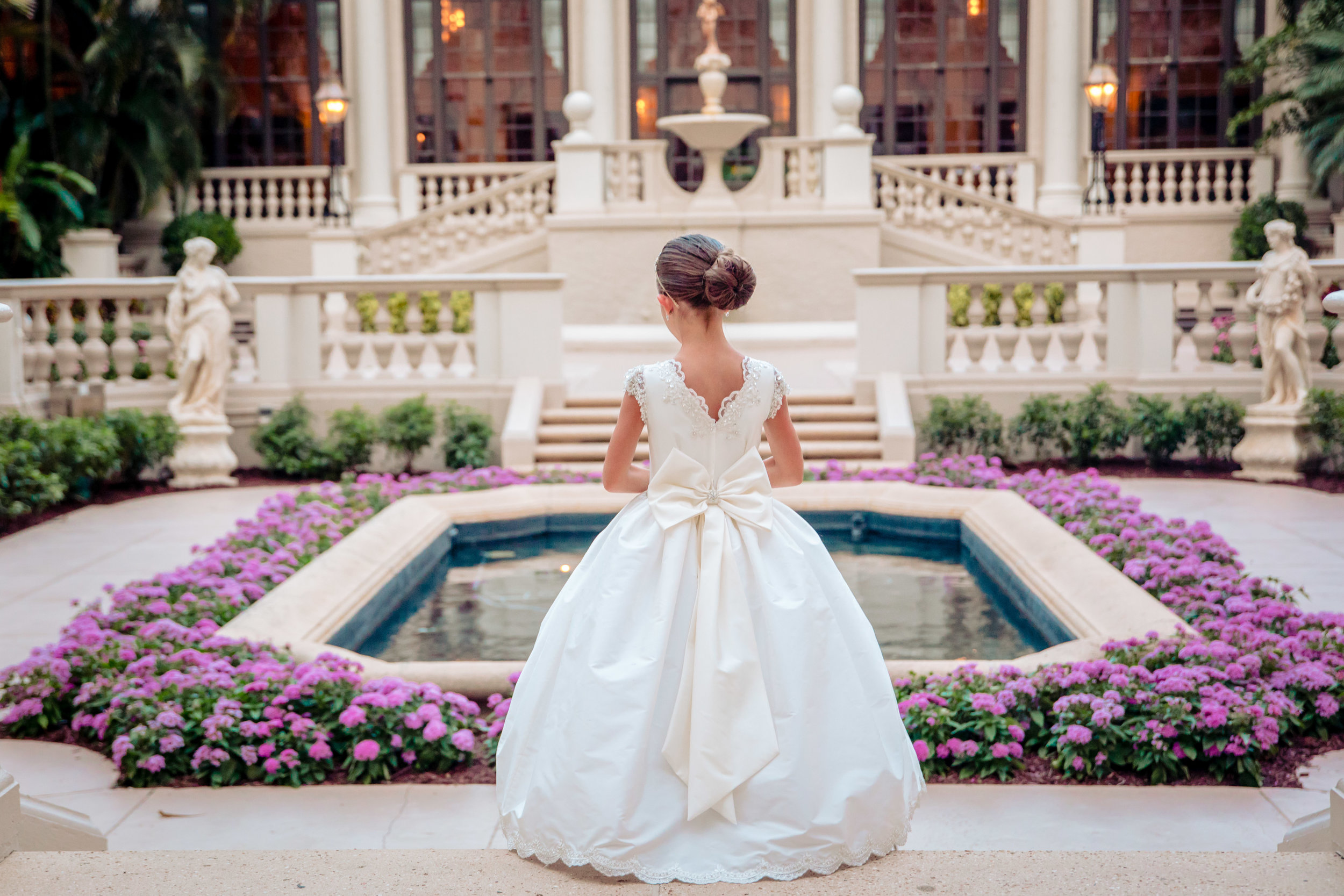 First Communion photography session at The Breakers Palm Beach