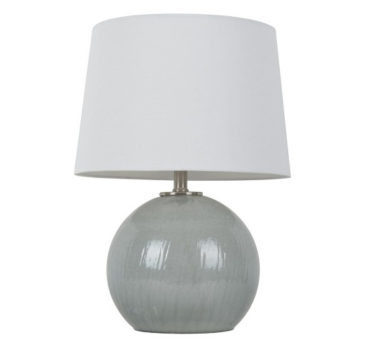 Threshold  Grey Glass Globe Lamp  $51.99