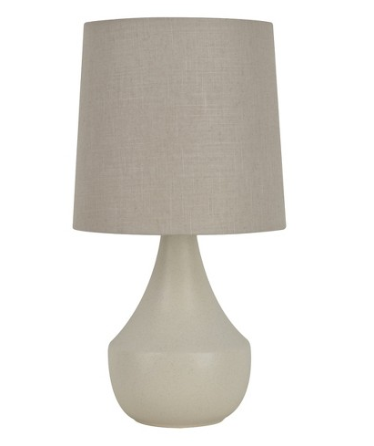 Threshold  Teardrop Table Lamp  with Grey Shade- Cream $51.99