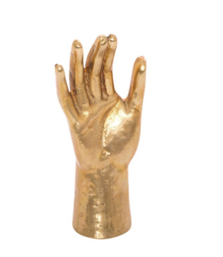 Kelly Wearstler Natural Bronze  Saint's Hand  $225