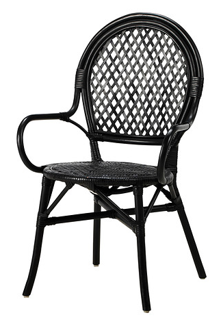 Black  Rattan Chair  $99
