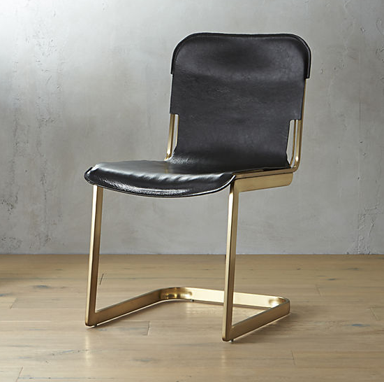Rake Brass Chair  $349