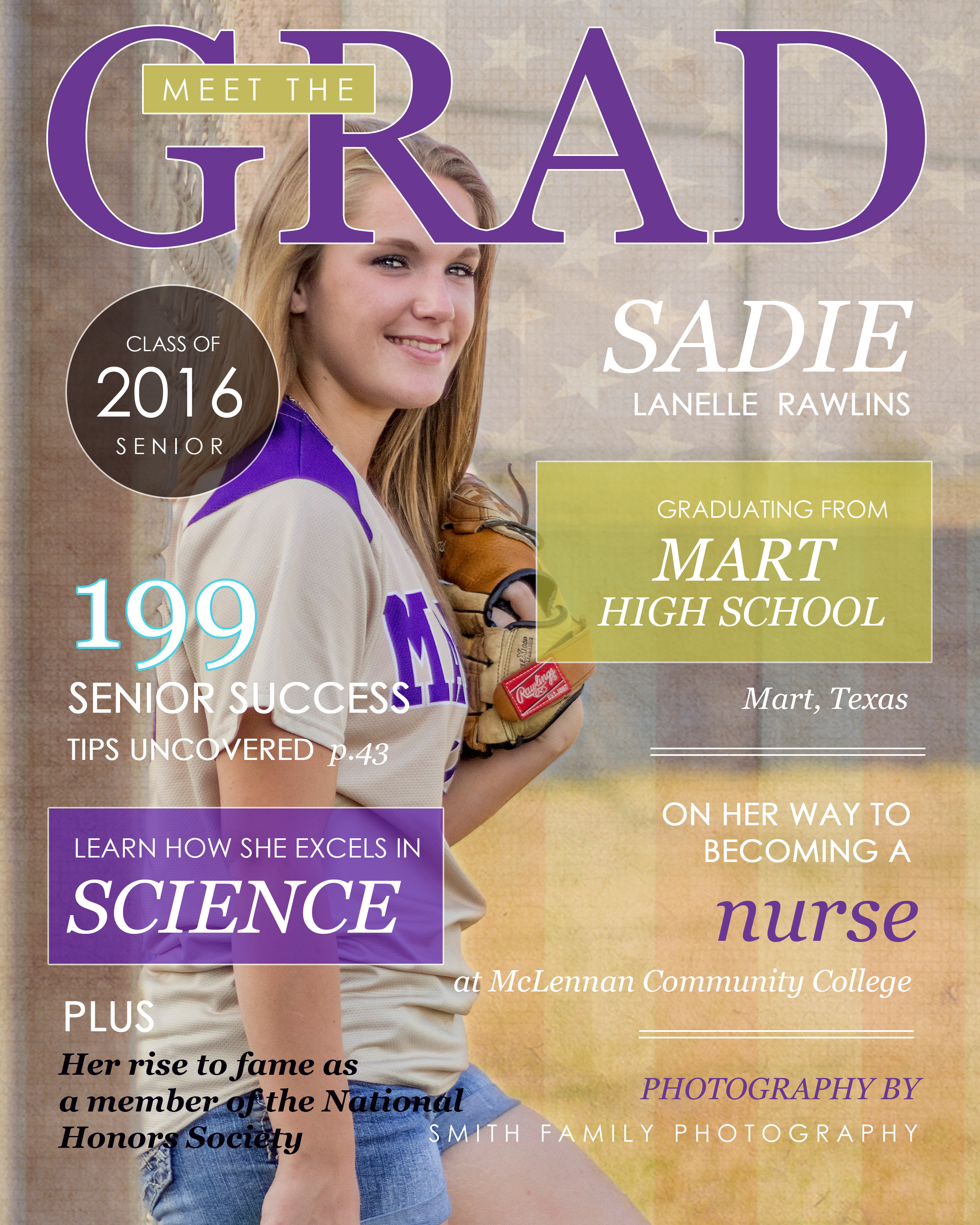 Sadie's magazine cover