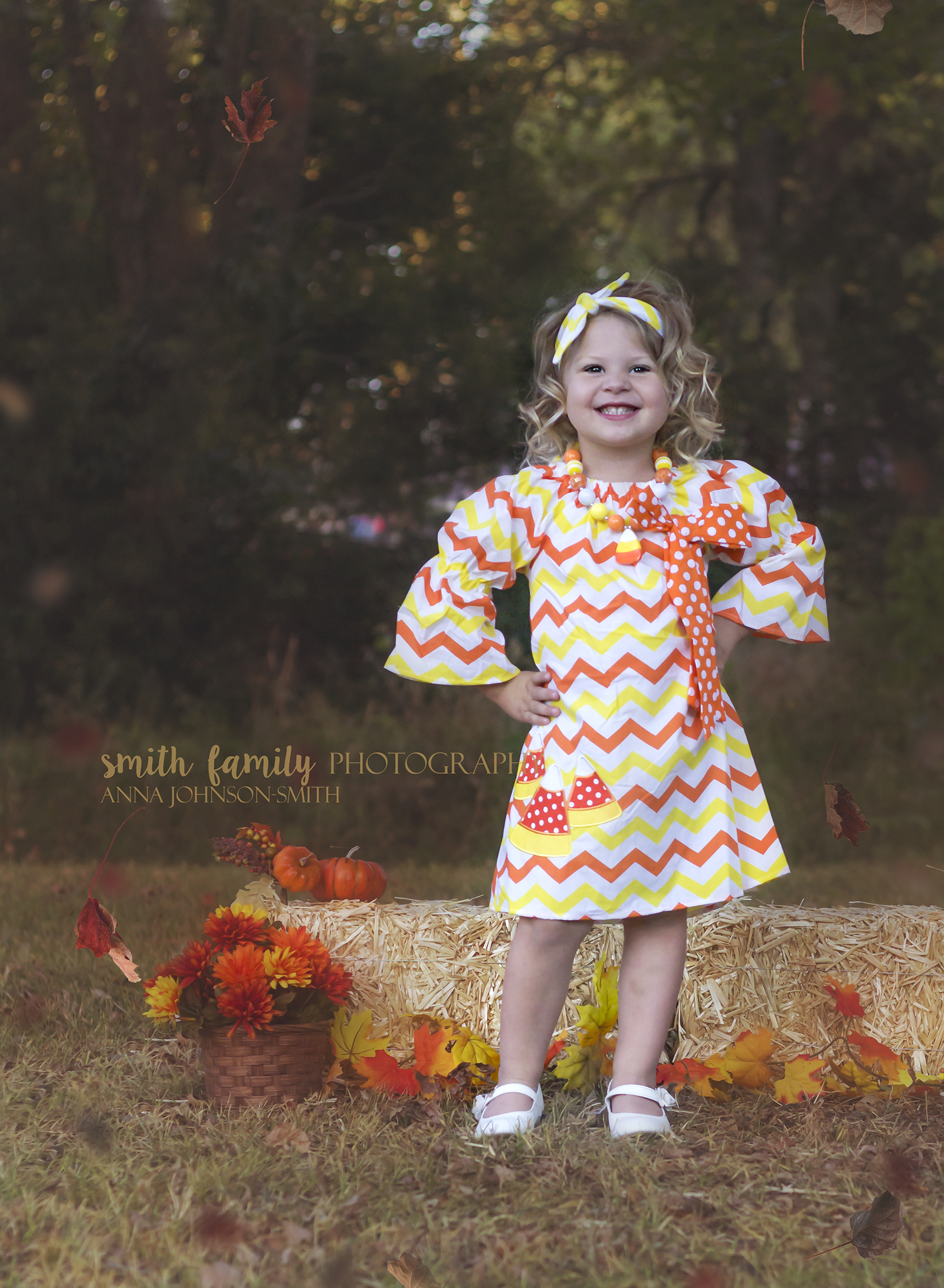 Dani feeling pretty in her candy corn dress!