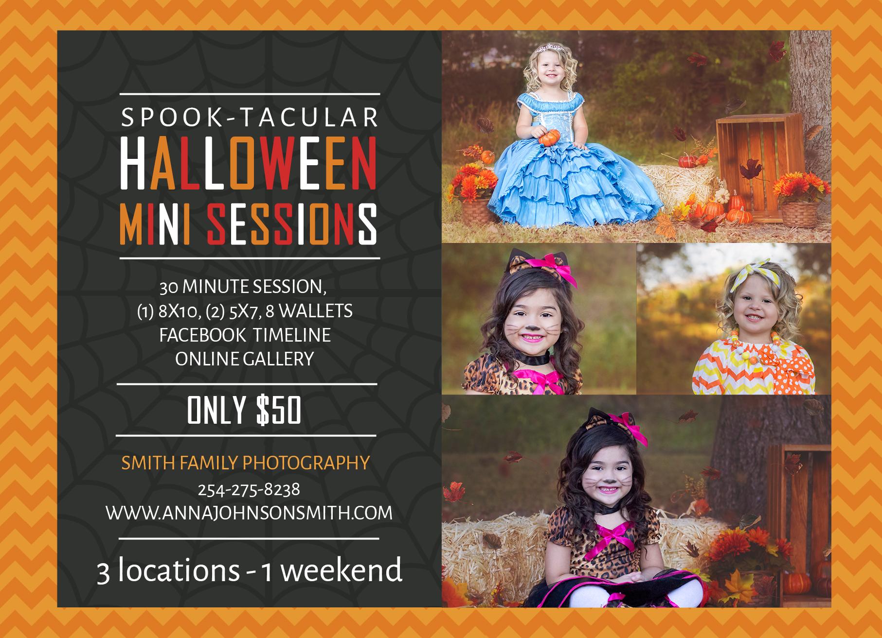 Fall/Halloween mini-session ad