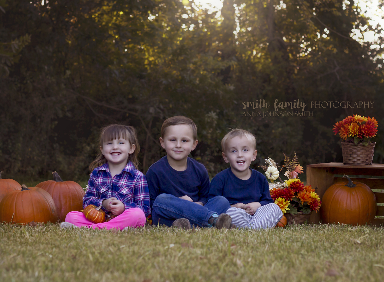 The three youngest Craven children...all smiles this year, 2015