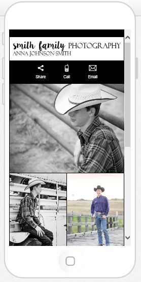 Hunter, a senior from Valley Mills, has his own Custom Mobile Album!