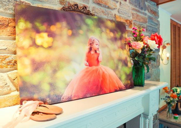 An example of a canvas gallery wrap printed from a professional printing lab.