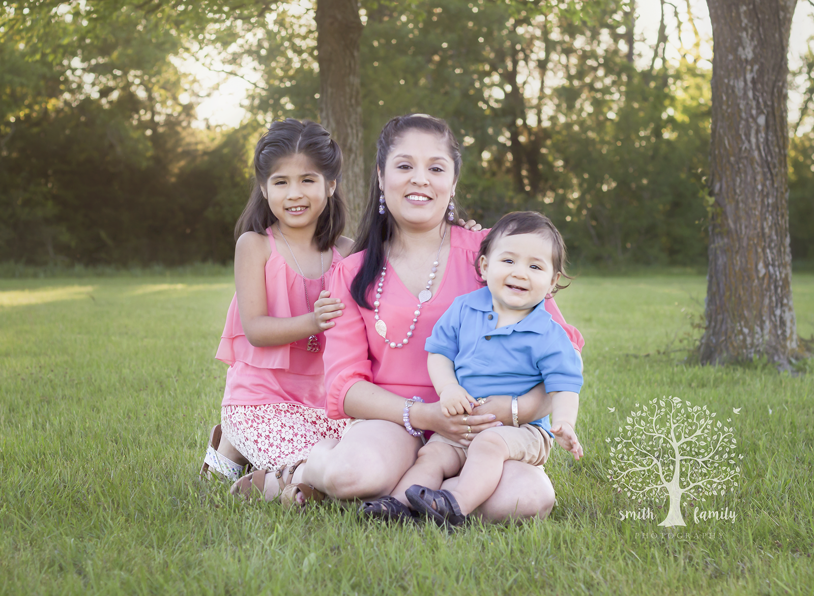 "This family session was taken during the ""Golden Hour.""  Notice how the light is a beautiful golden color?"