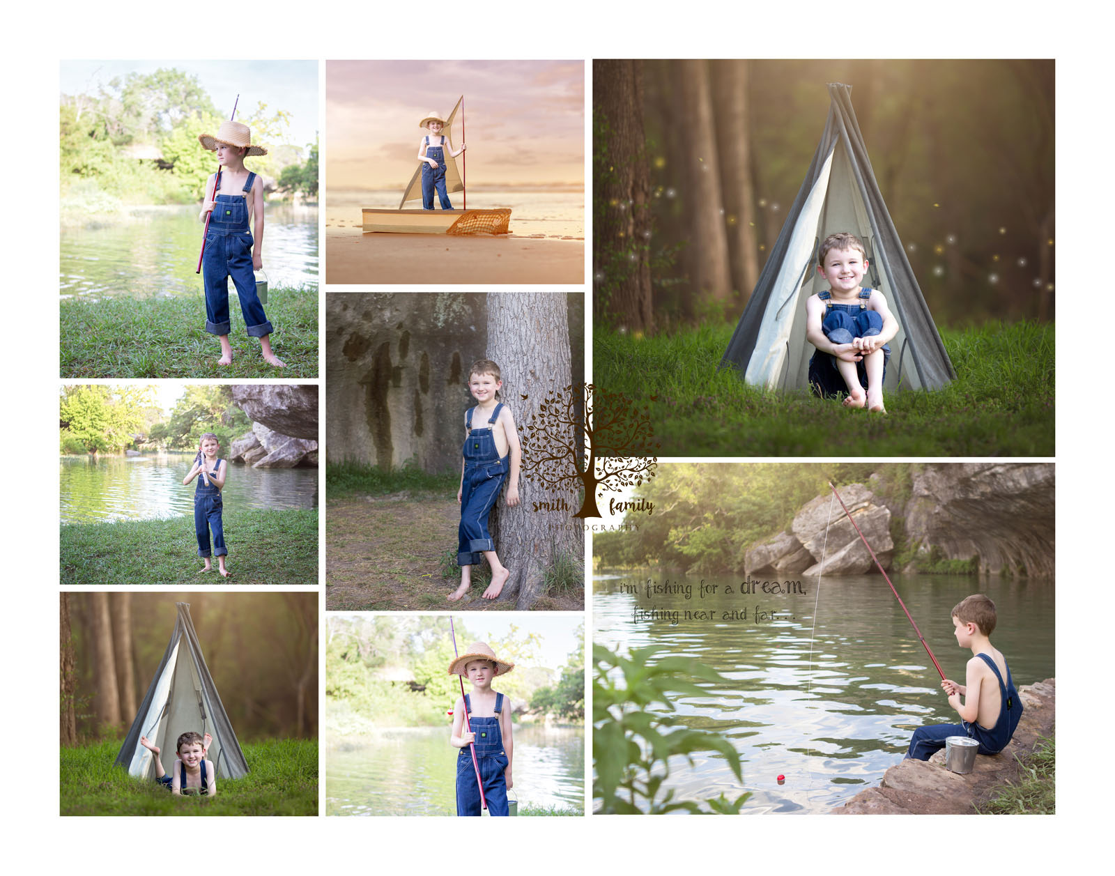 huckleberry_finn_session_collage_smith_family_photography_waco