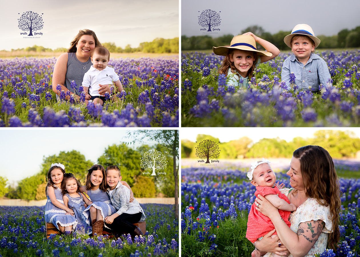 Sneak Peeks of our four Limited Bluebonnet Sessions in 2018.