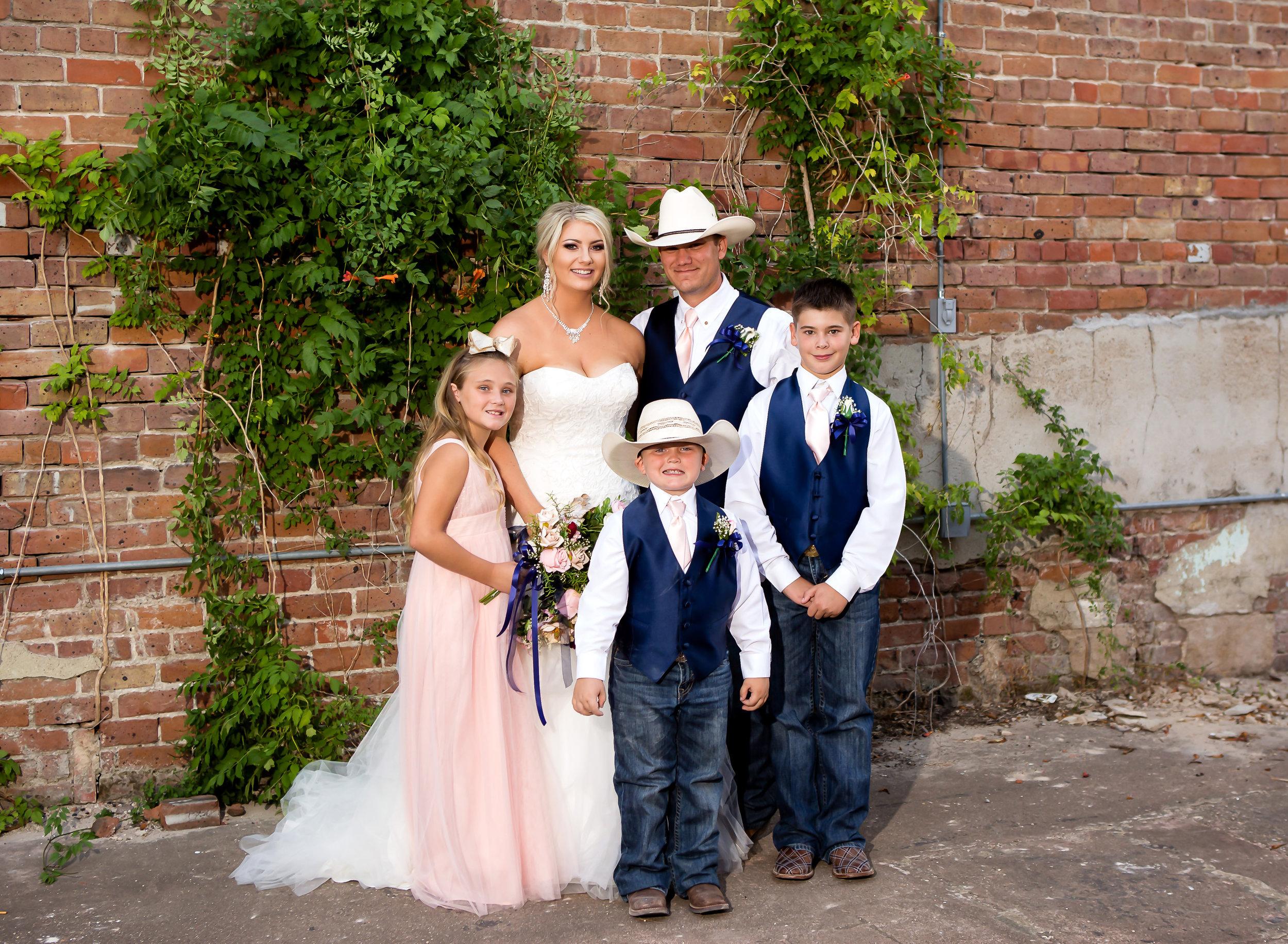 Mr. and Mrs. Barkouskie with their three children.