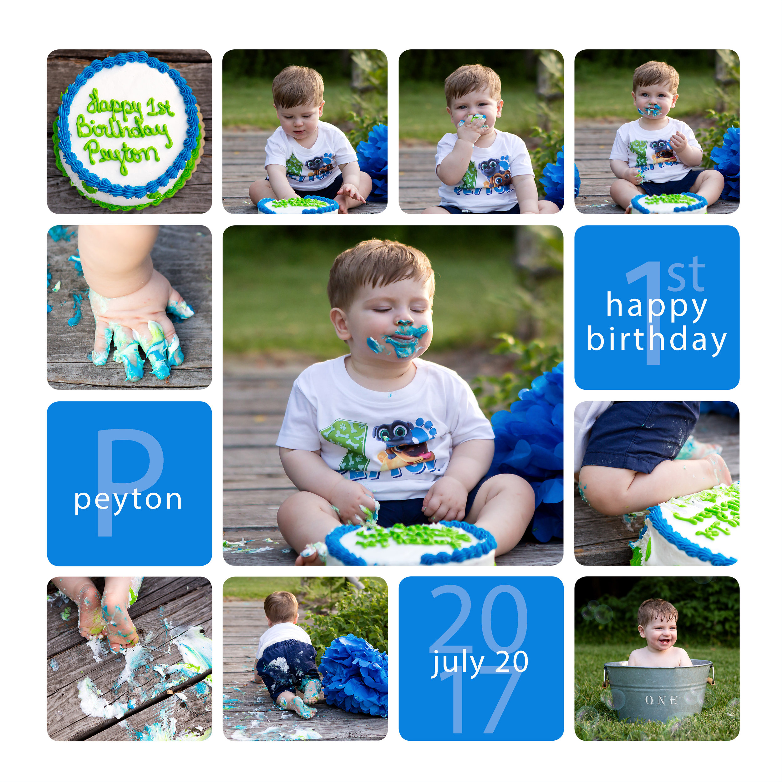 July 2018 - One Year Cake Smash session
