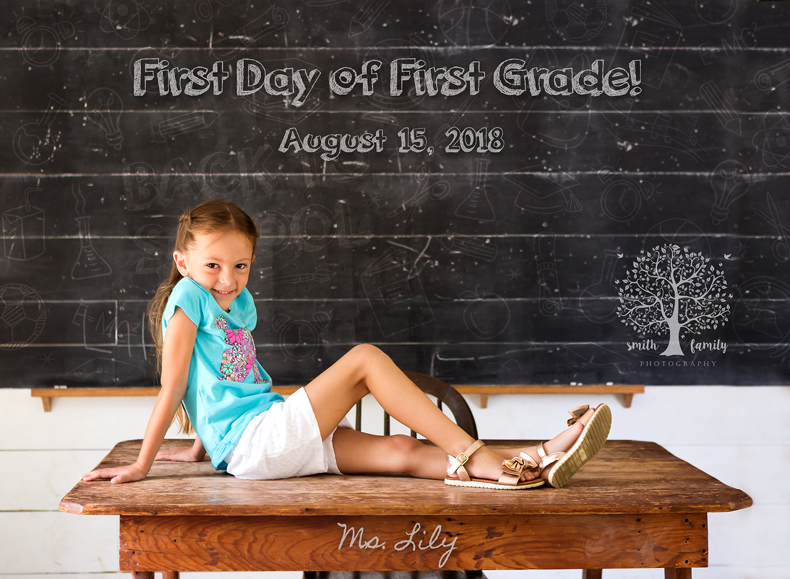 Lily - 6 years old. First day of First Grade