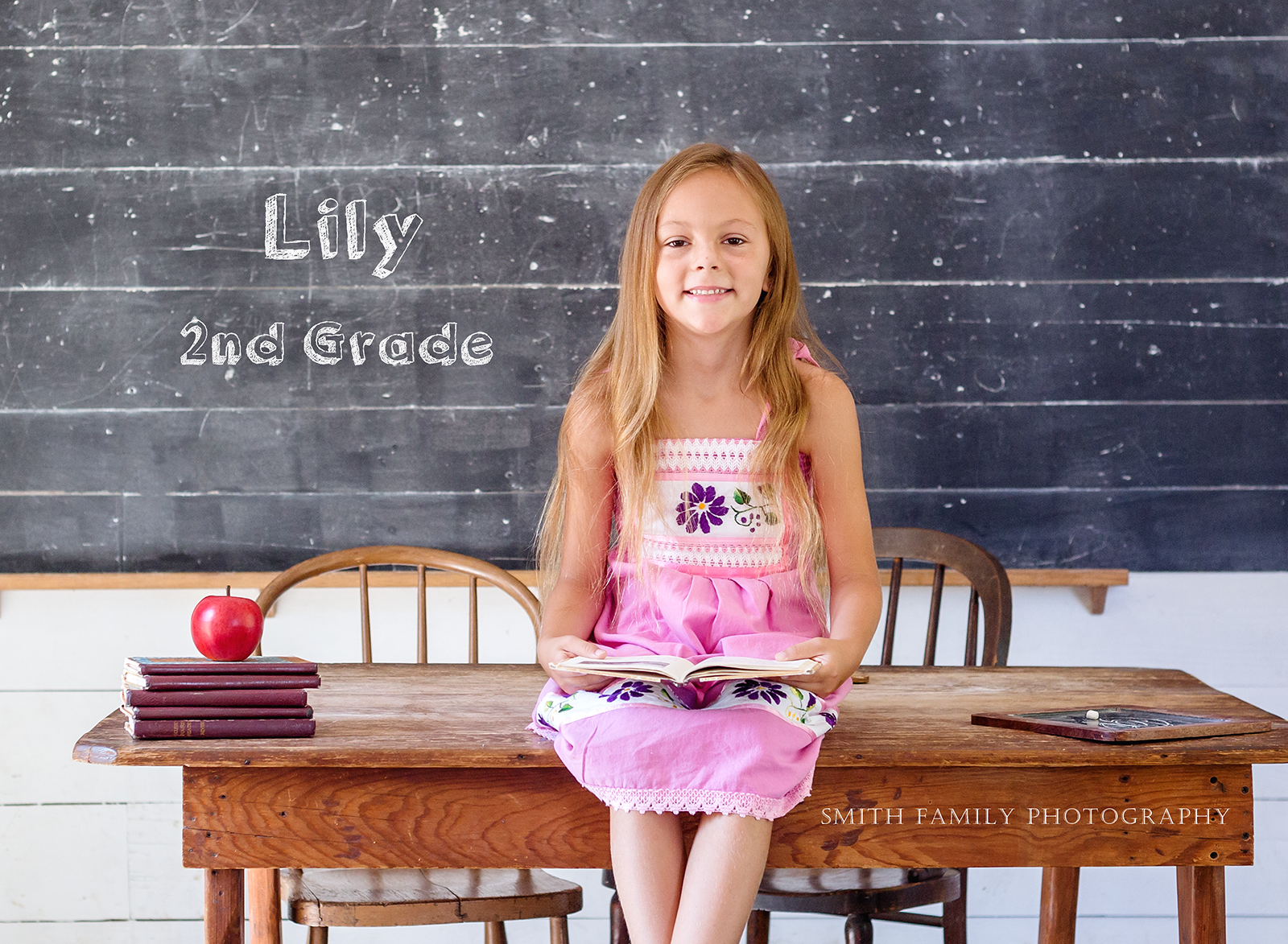 Lily - 7 years old.  First day of 2nd Grade