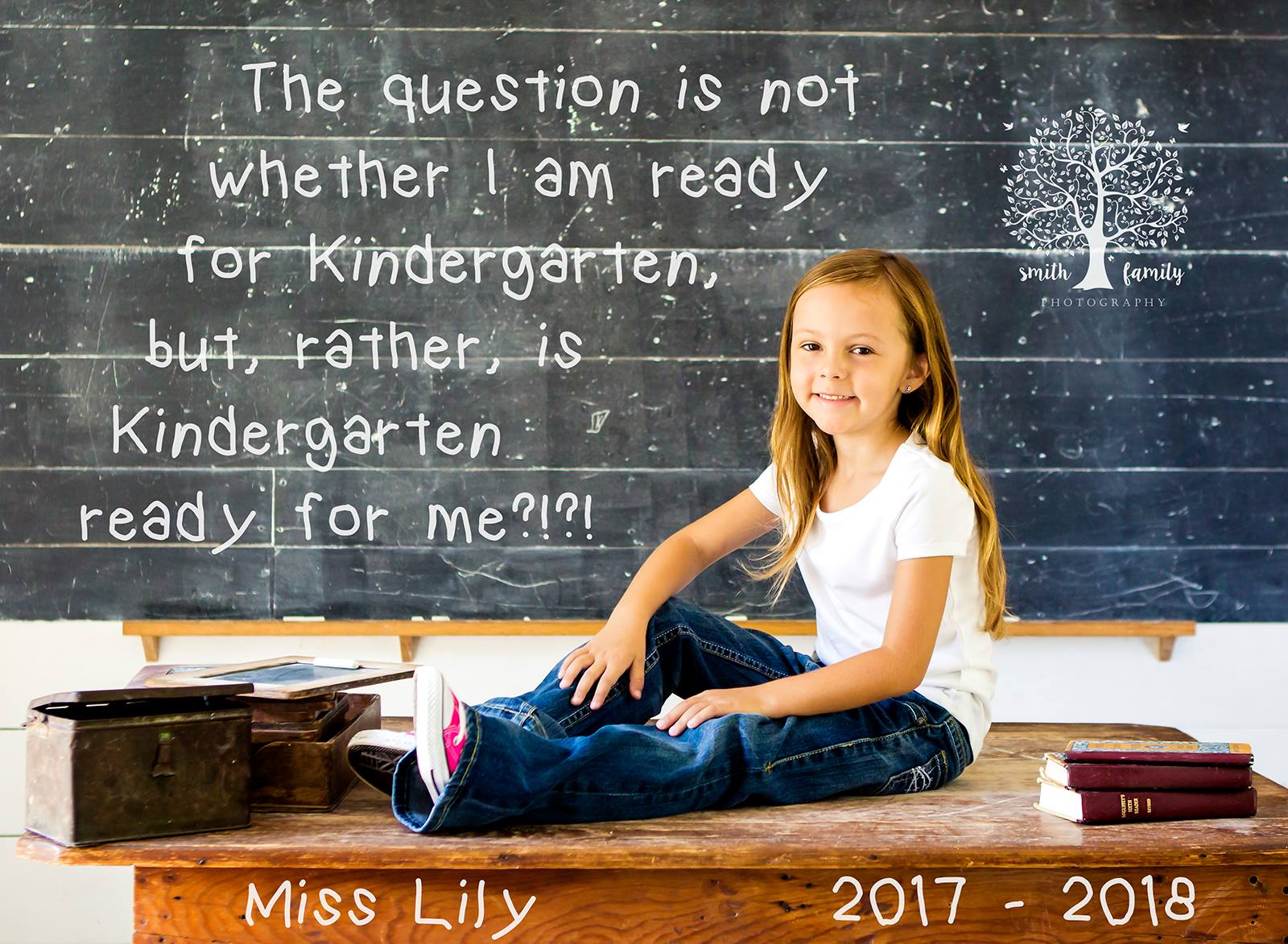 Lily - 6 years old.  First Day of Kindergarten