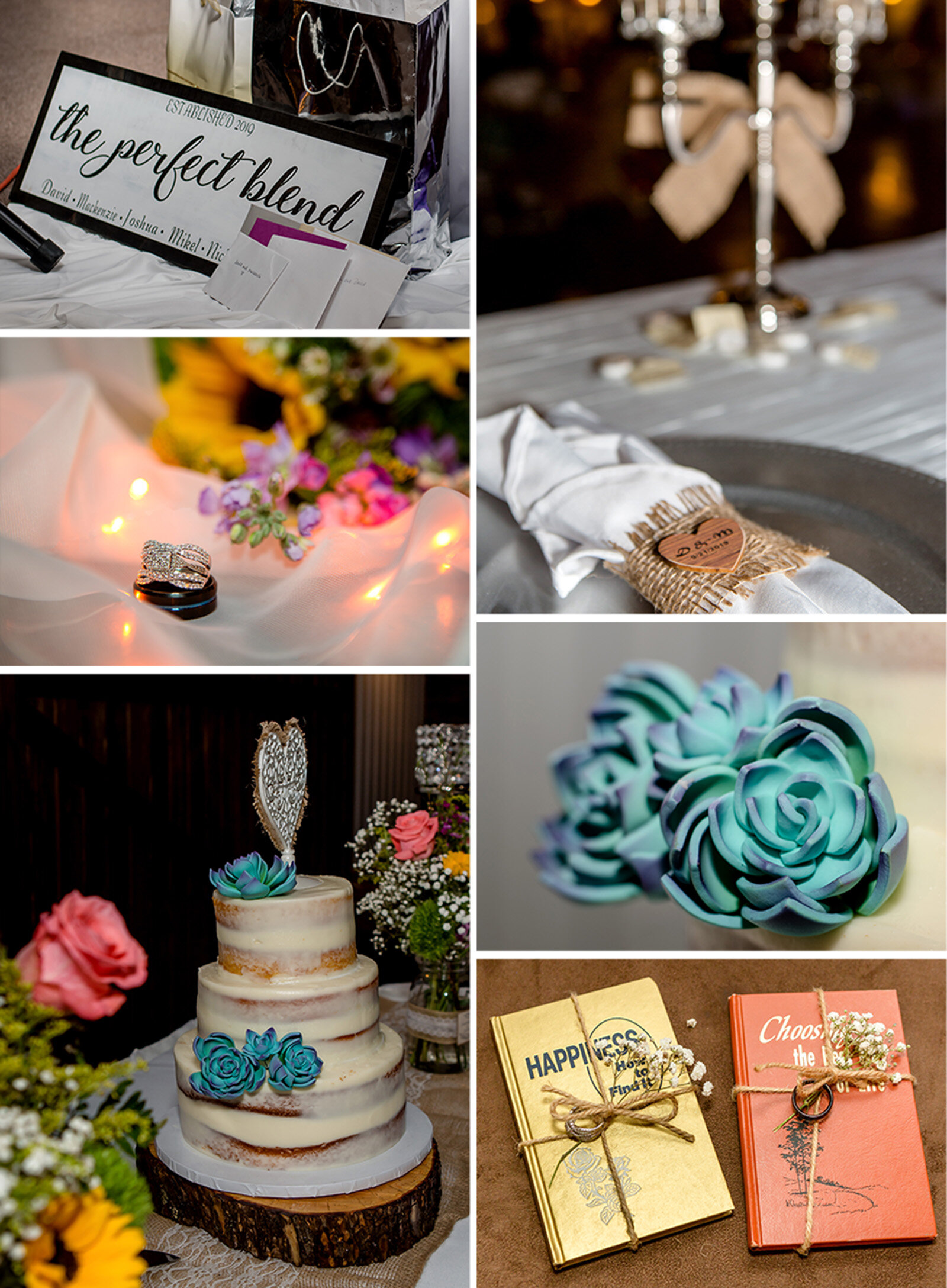 The details of the wedding were absolutely stunning!