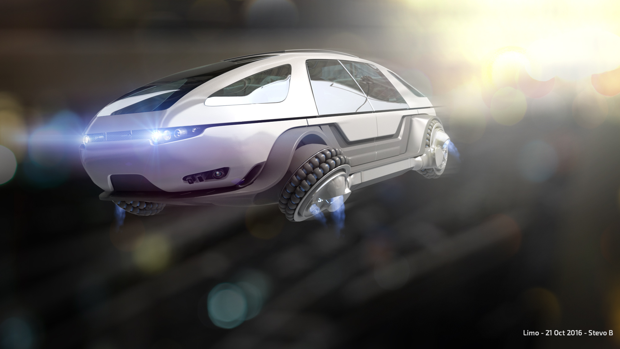 ALTERED CARBON LIMO concept illustration by Stevo Bedford