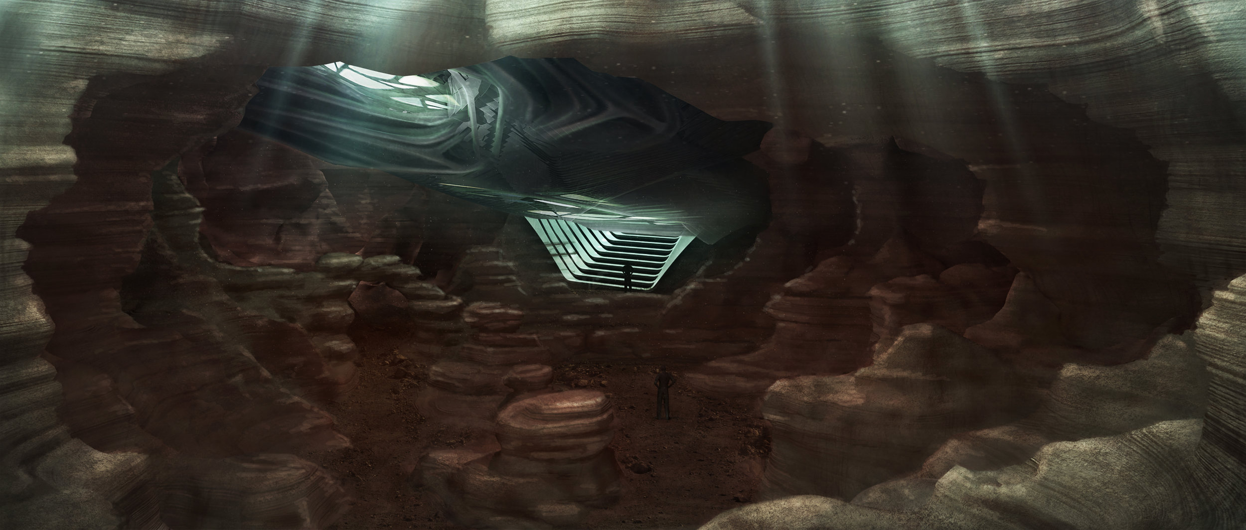Power Rangers Cavern Concept by Stevo Bedford
